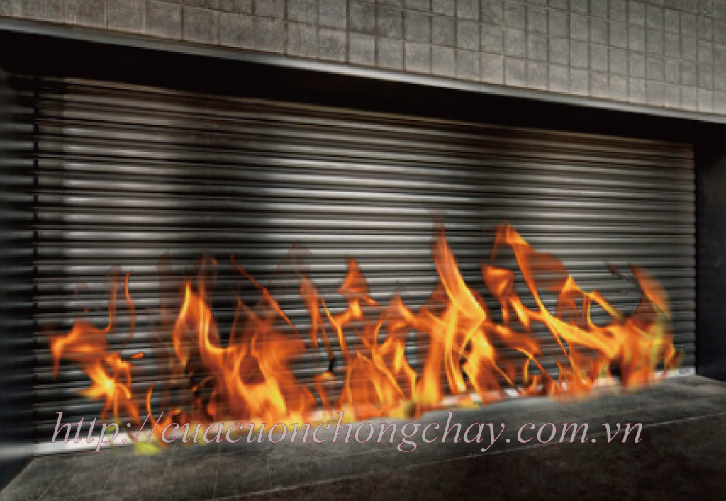 cửa cuốn chống cháy thép
