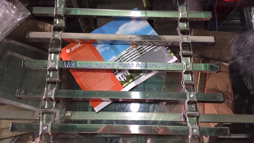 cửa cuốn song ngang vuông